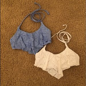 Two piece bathing suit top set